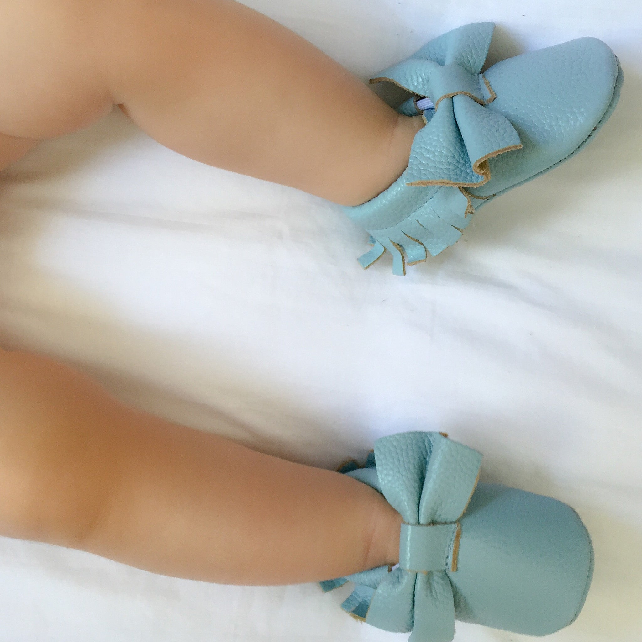 Moccasins – Baby Blue