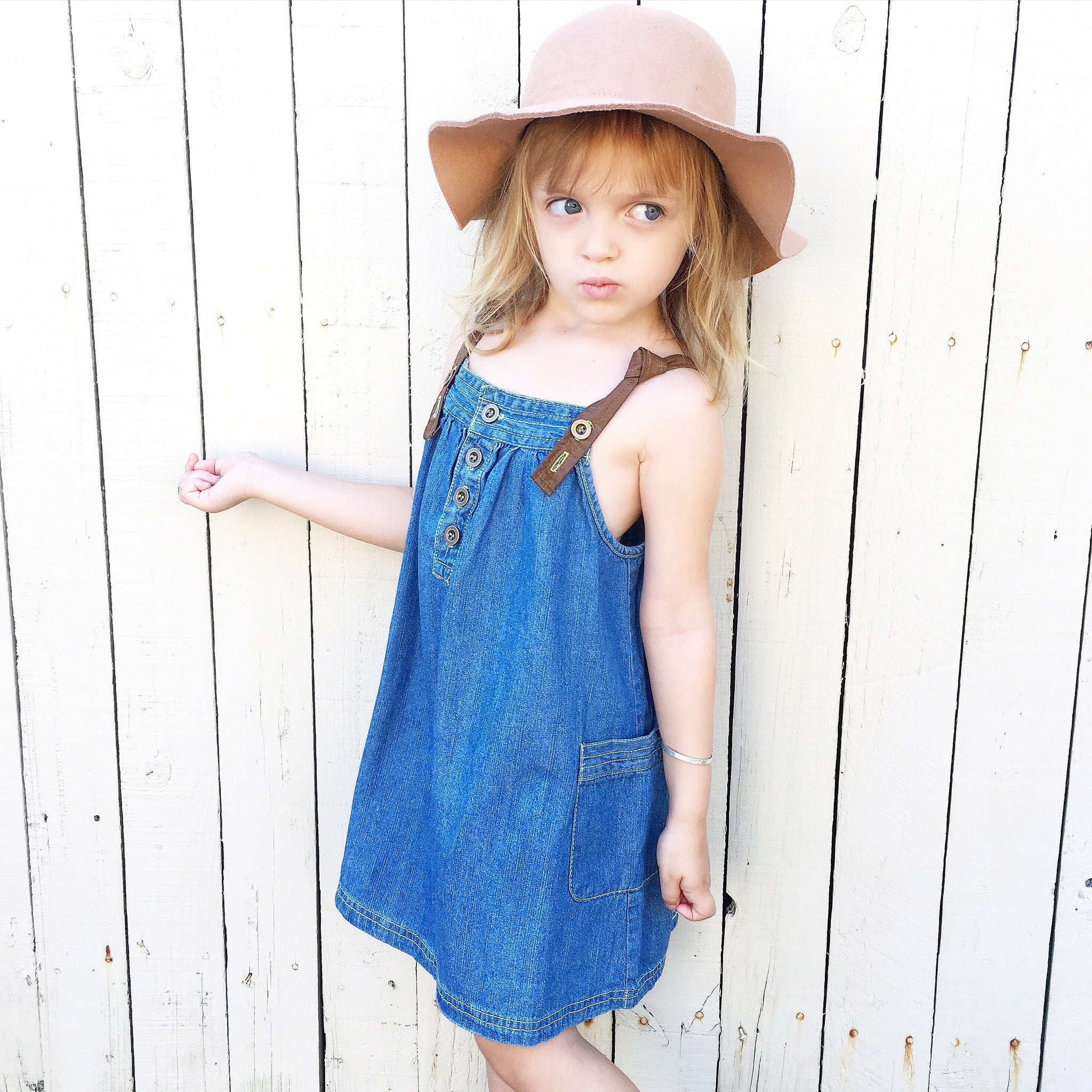 Poppy & Flo Dark Denim Dress