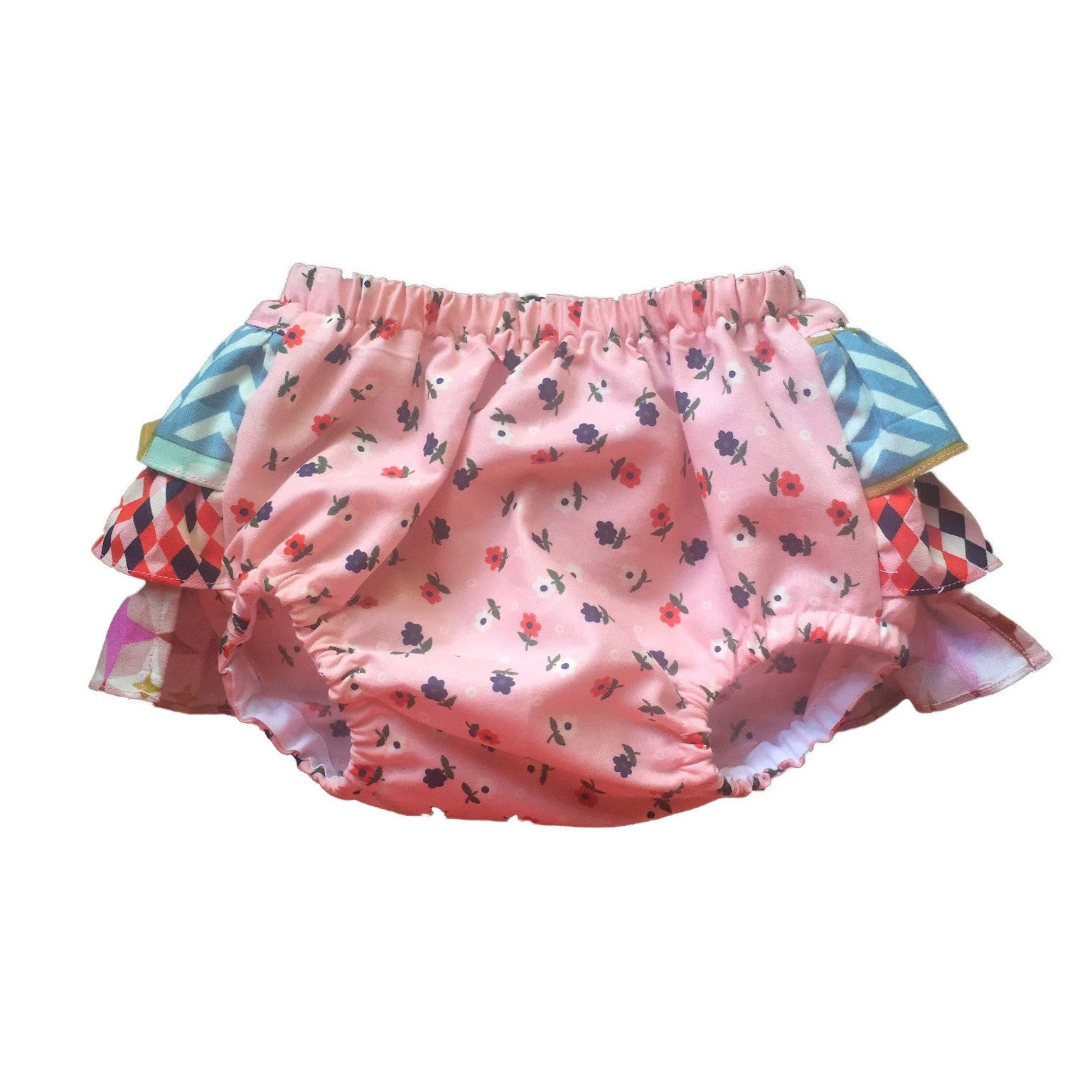 Frilly Colourful 100% Organic Cotton Baby Bloomer - Front