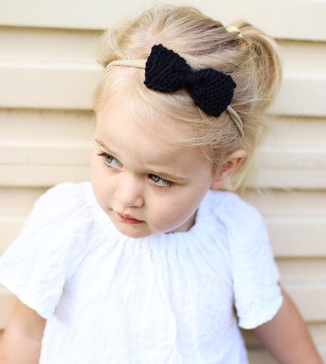 Toddler Black Hairbow - Limited Edition