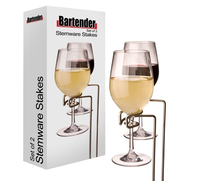 Wine Glass Stemware Stakes - Set of 2