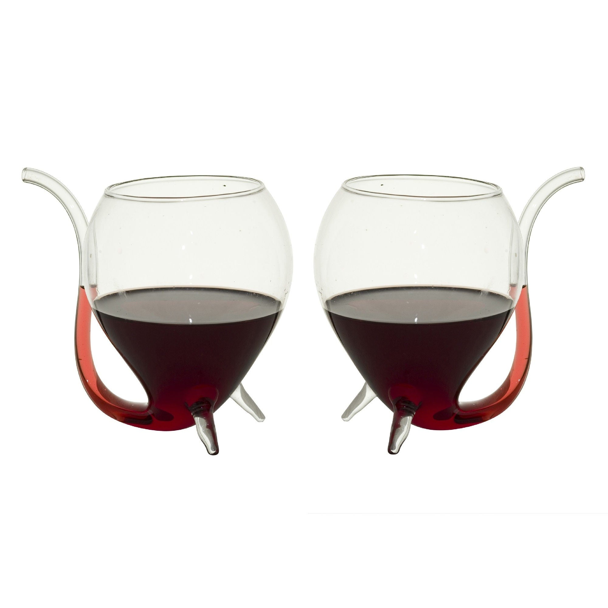 Wine Sippers with Built in Sipping Straws - Set of 2