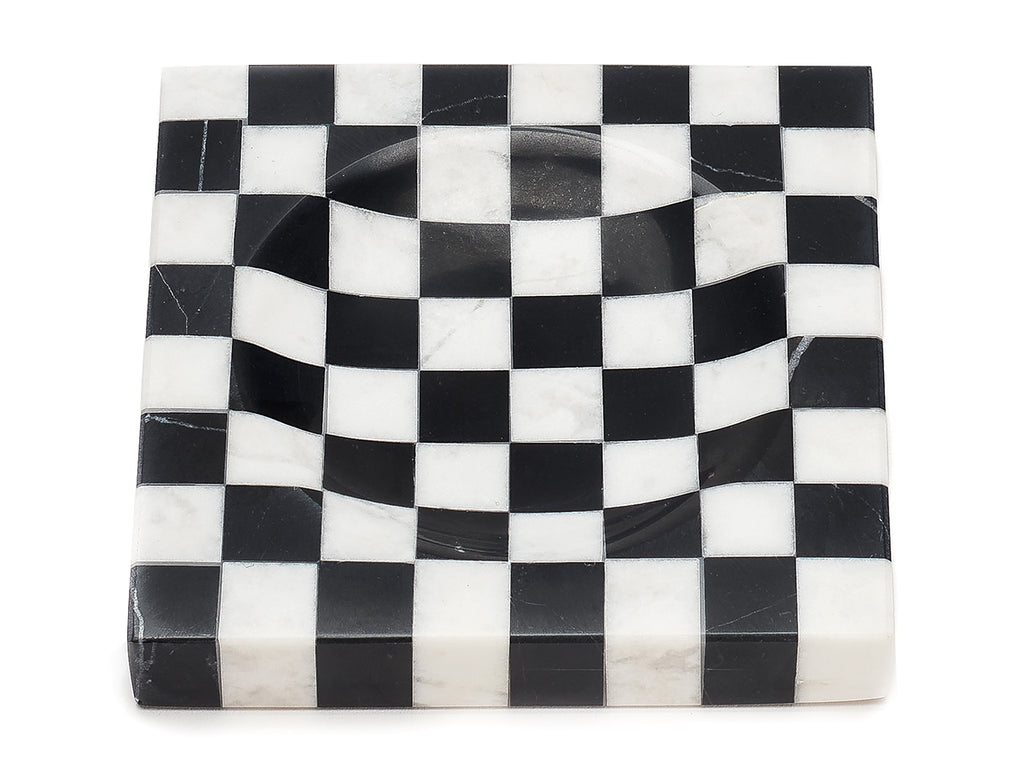 Checkered Marble Ashtray