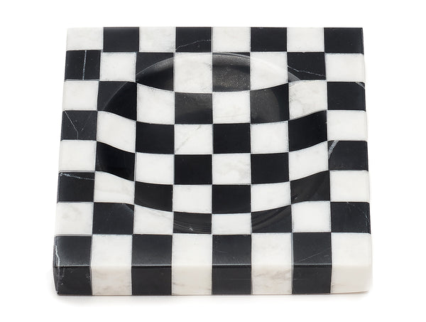 Checkered Marble Ashtray - PRE-ORDER