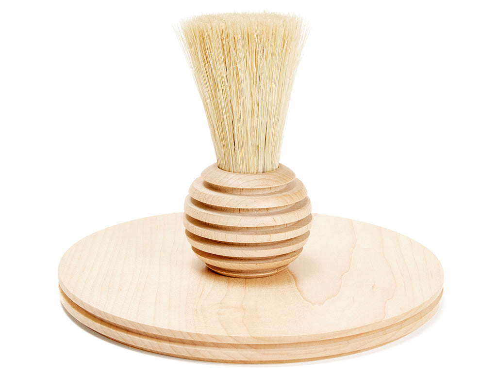 Rib Tray and Brush Set - Natural