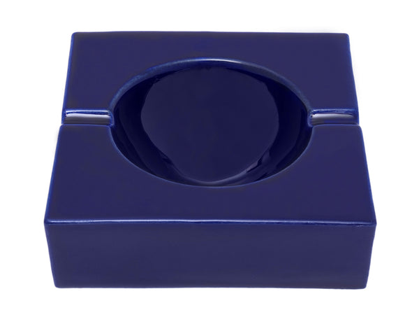 Vintage Blue Ceramic Ashtray