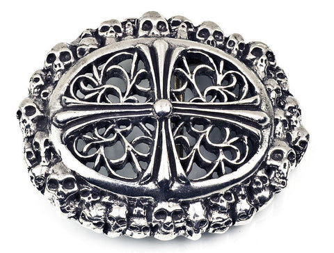 A&G ROCK AUTHENTIC MINI SKULLS & CROSS THEMED BUCKLE