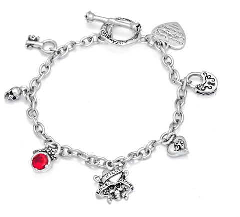 Charm Bracelet in Sterling Silver with T-Bar