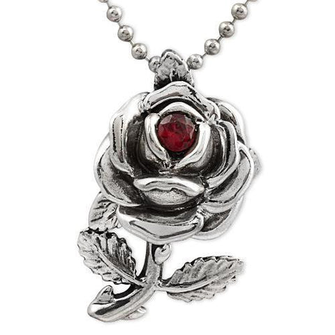 Blossomed Rose Necklace in Sterling Silver