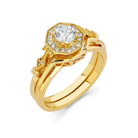 0.49 CT. T.W. Round-Cut Diamond Engagement Ring in 14K Yellow Gold