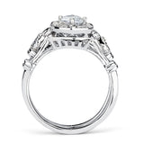 0.48 CT. T.W. Round-Cut Diamond Engagement Filigree Ring in 14K White Gold