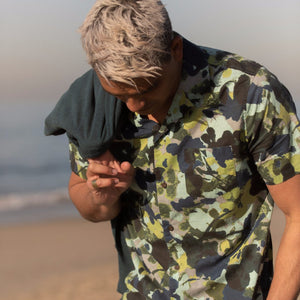Business & Pleasure Co Camo Woven Shirt Woven Shirt