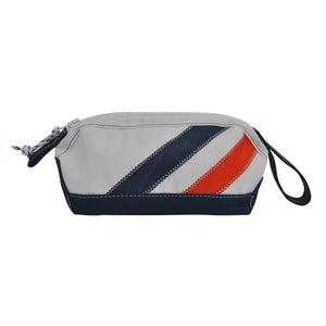 Stripes Dopp Kit - Boyd Sailcloth - Recycled Sailcloth Bag