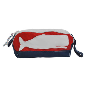 Whale Dopp Kit - Boyd Sailcloth - Recycled Sailcloth Bag