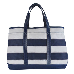 Stripes Shore Bag - Boyd Sailcloth - Recycled Sailcloth Bag, Shore Bag