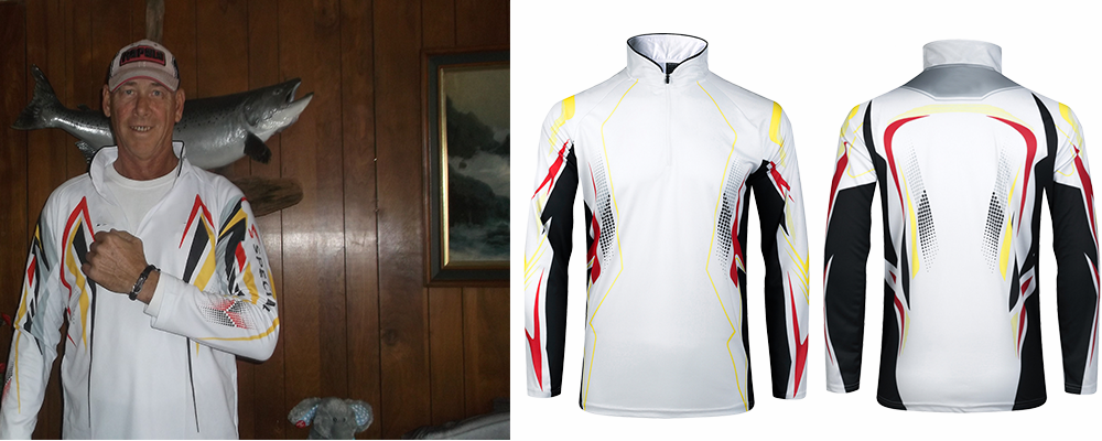White UPF50 Performance Jersey