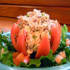 Tuna Stuffed Tomato Salad
