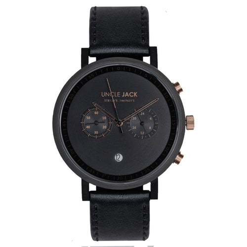 Uncle Jack | CHRONO - BLACK & GOLD |
