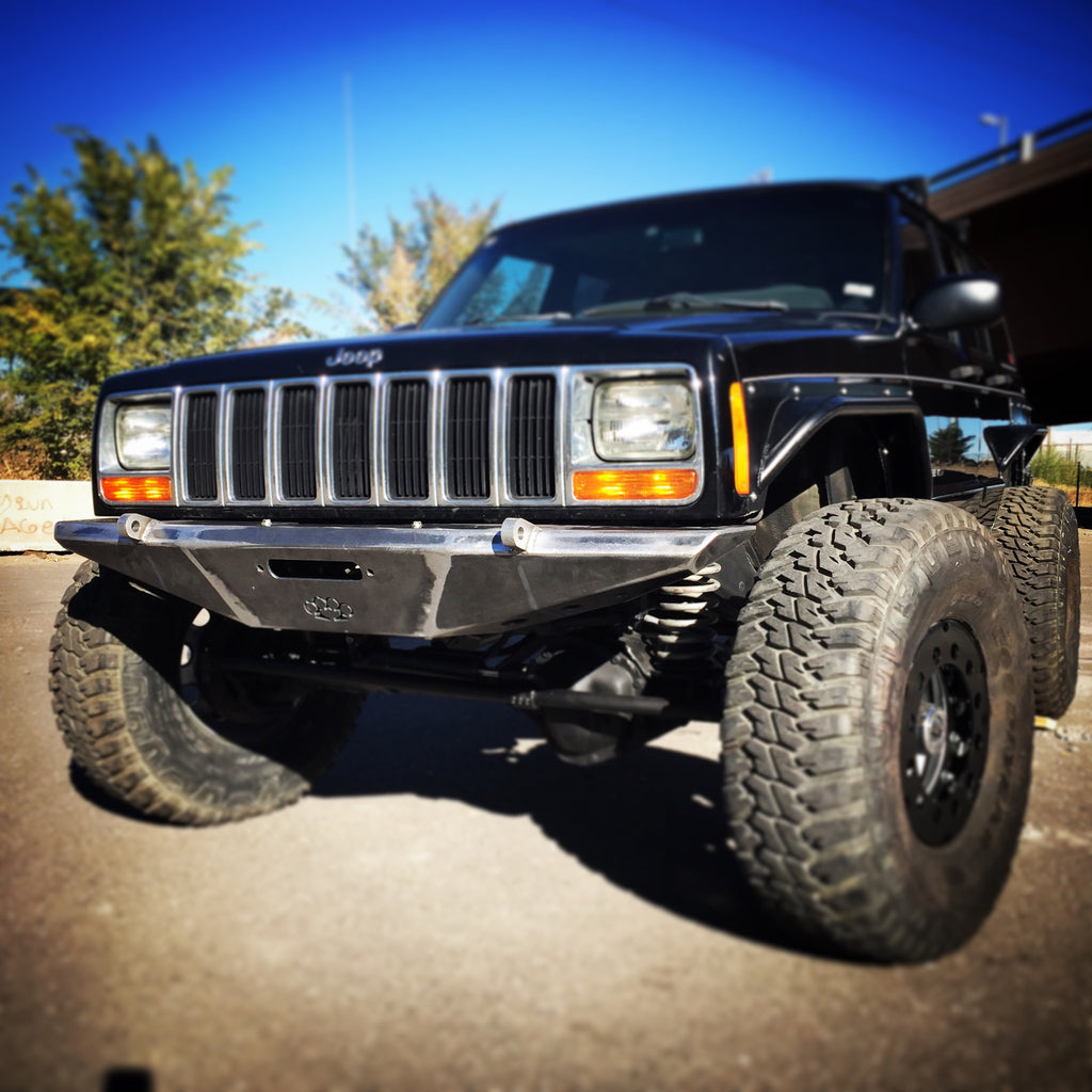 XJ Stealth Winch Bumper – Hooligan Off Road