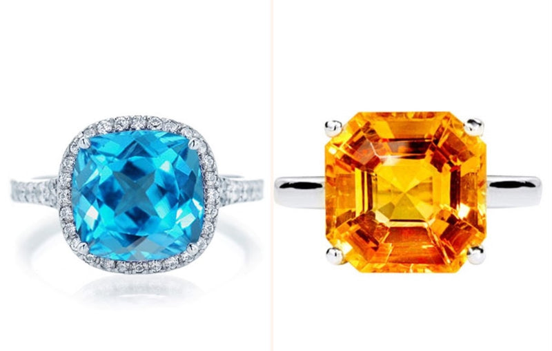 Topaz and Citrine; November's birthstones