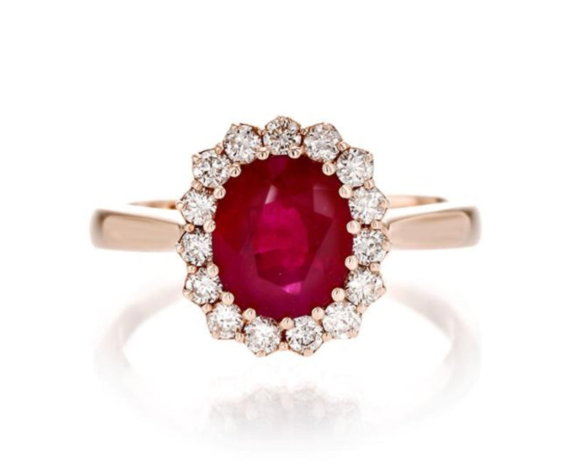 Oval Ruby Classic Ring