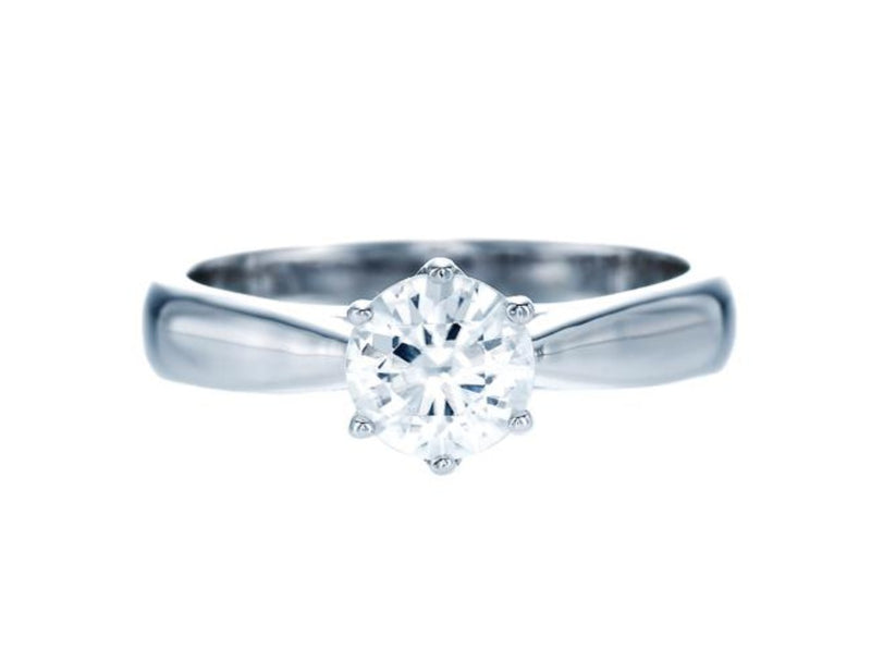 Round White Zirconia Simple Ring