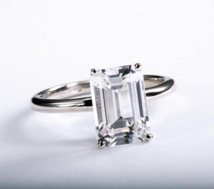 Classic Emerald Cut Danburite Ring