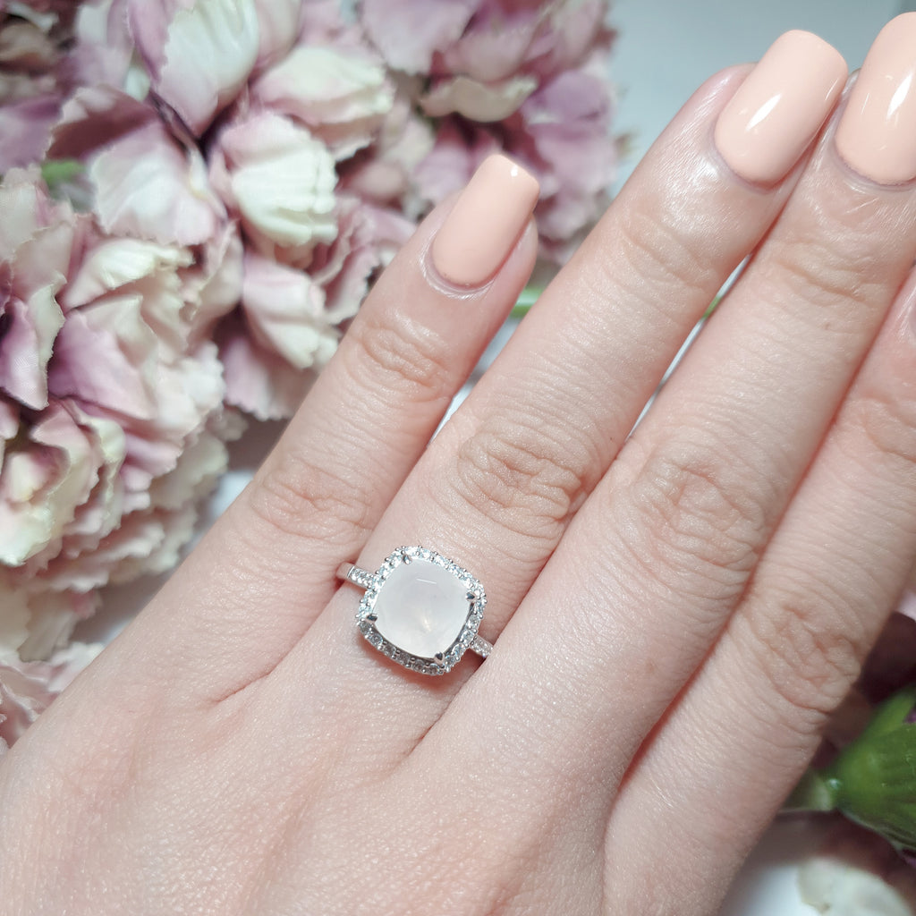 Ice Rose Quartz Fine Ring