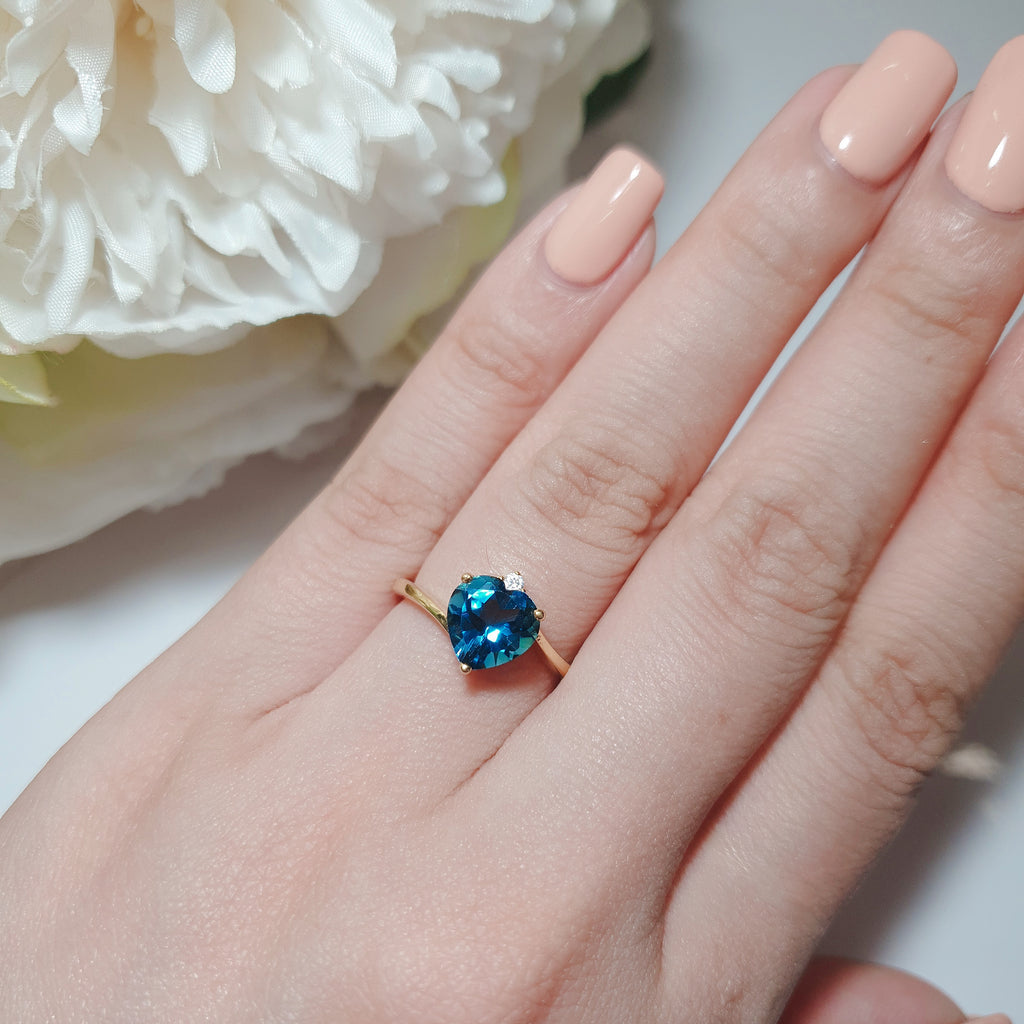 London Blue Topaz: My Love Story Ring