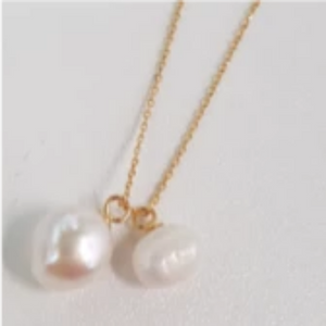 Double sea pearl necklace