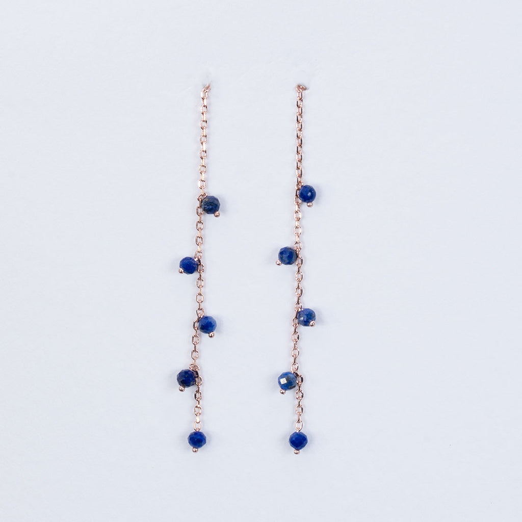 Lapiz Lazuli pull through earrings
