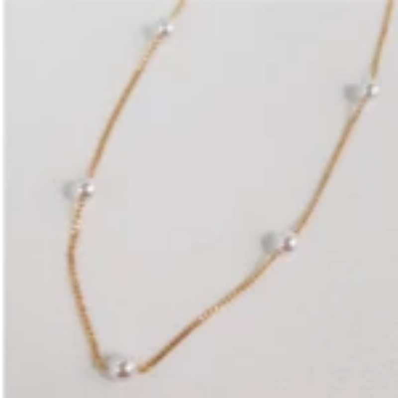 Fresh water pearl necklace (3mm)