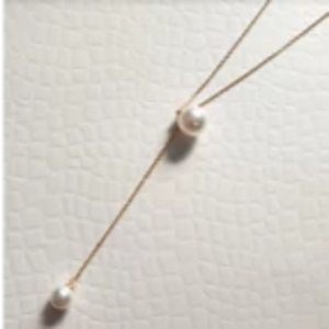 Simple Y-fresh water pearl necklace