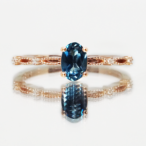 London Blue Topaz Princess Ring