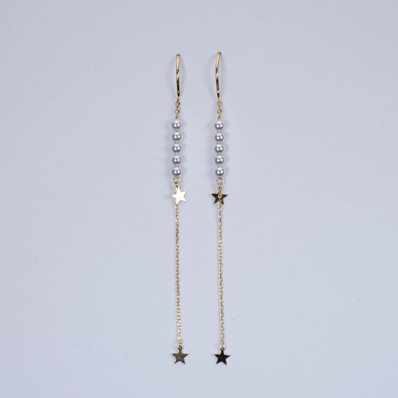 Fresh water pearl with star earrings