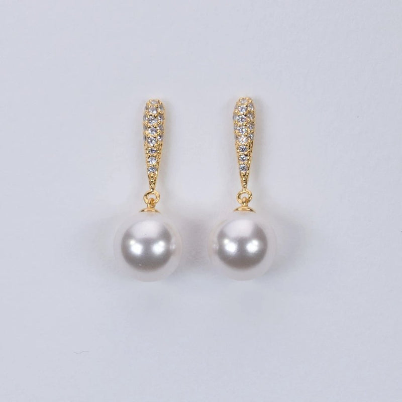 Luxury fresh water pearl earrings