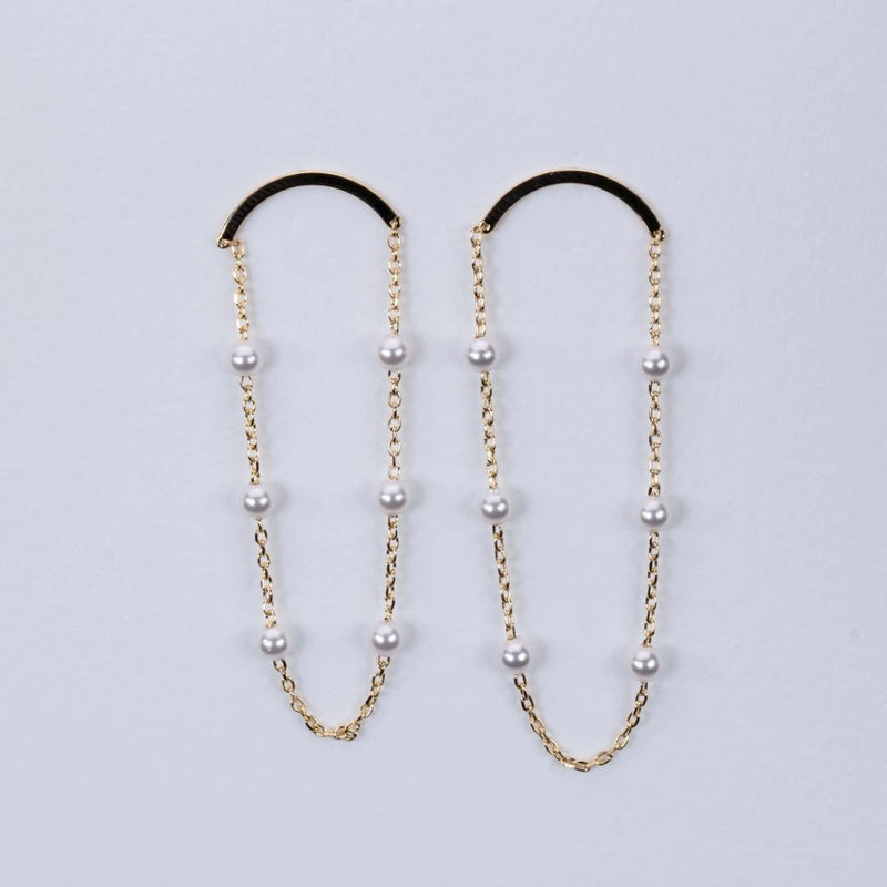 Fresh water pearl loop design earrings