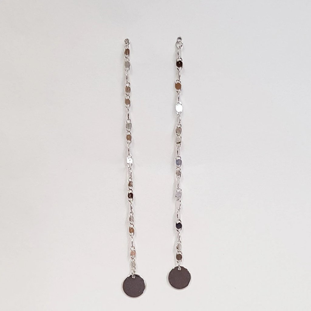 Simple patterned chain earrings