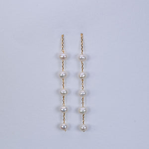 Sea pearl  pull through earrings