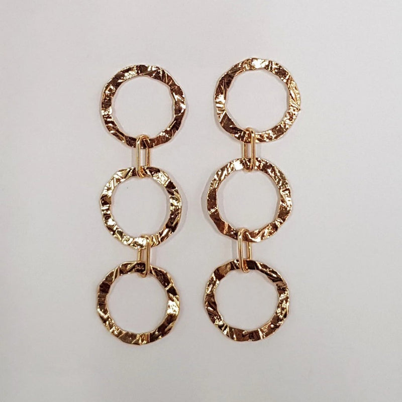 Connected circle earrings