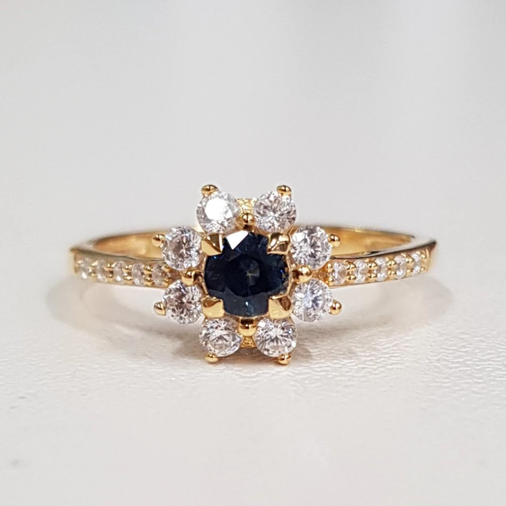 Sapphire (small) Snow Flake Ring