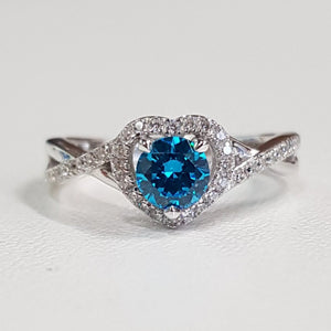 Blue Topaz: Heart Ring