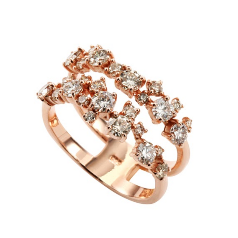 Brown Diamond Split Band Ring
