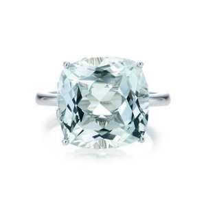 Cushion Cut White Topaz Ring