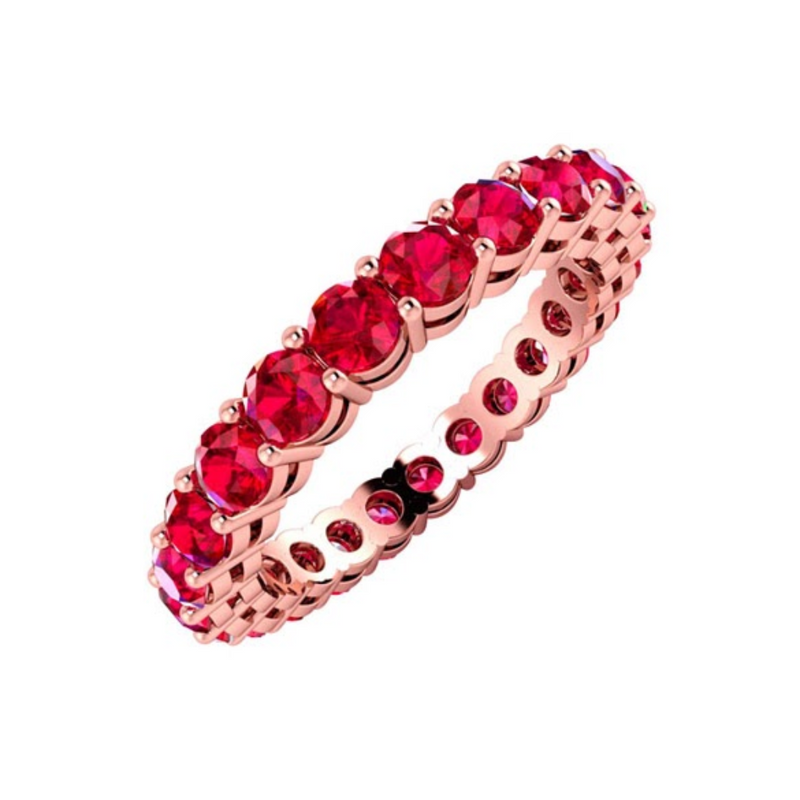 Full Eternity Ruby Ring