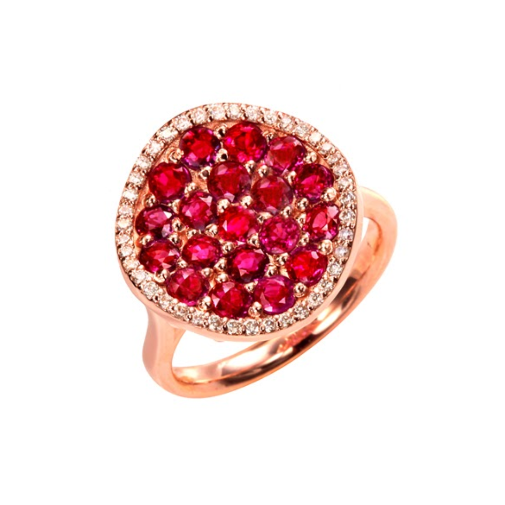 Ruby Pave Ring