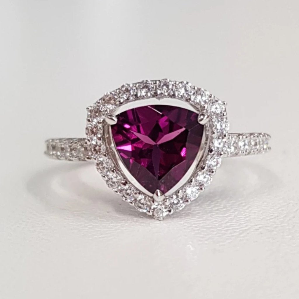Rhodolite Triangle Ring