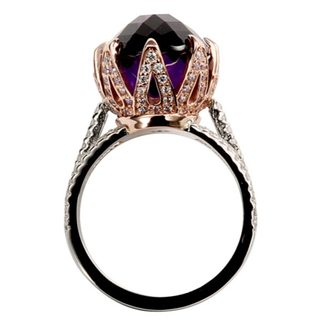 Amethyst Vintage Style Ring