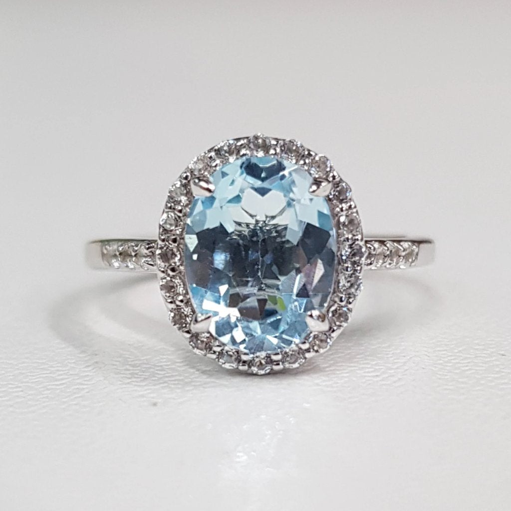 Top Sky Blue Topaz Fine Ring