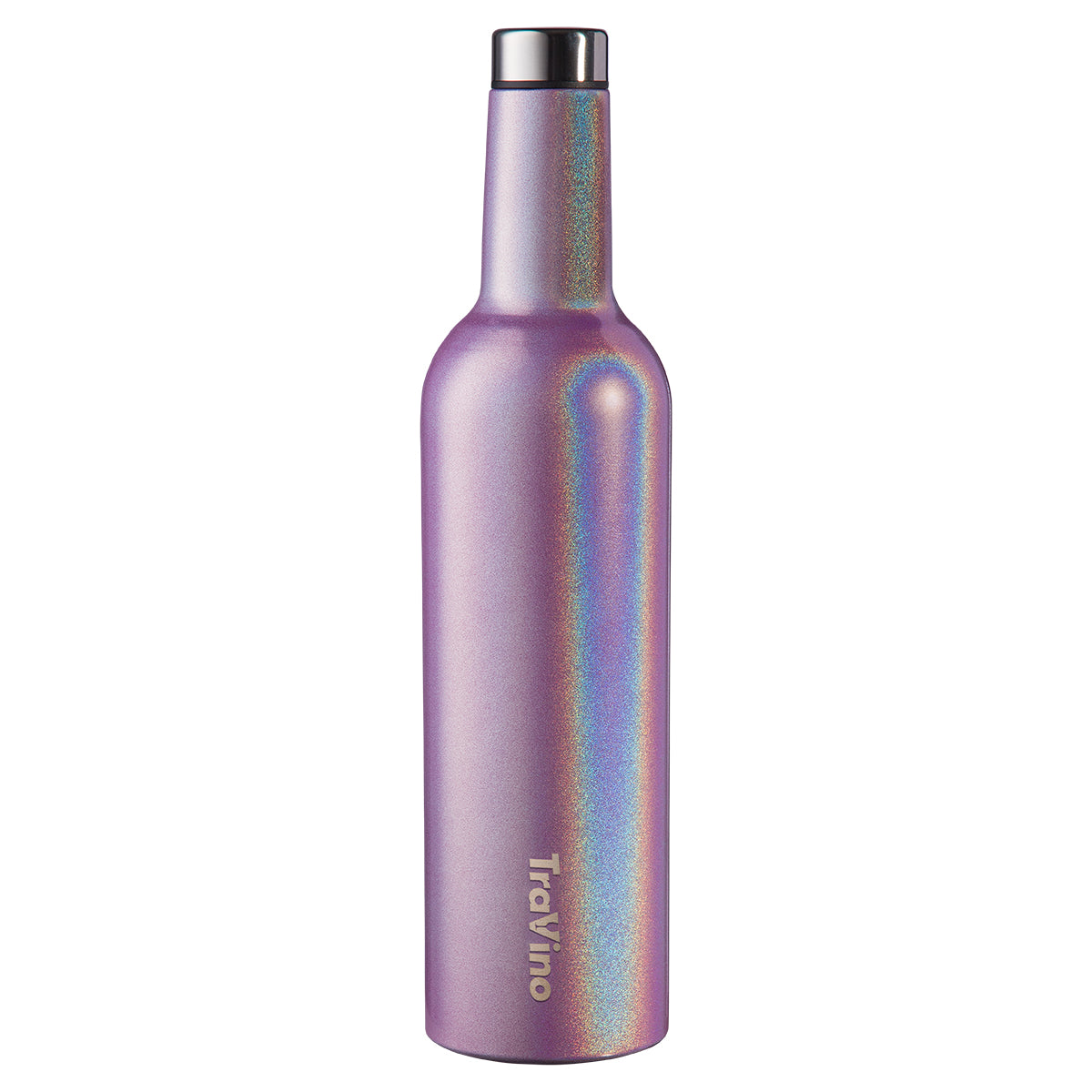 TraVino Insulated Wine Flask - 750mL - Ultra Violet (Glitter)